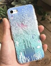 NEW iPhone 7/8 Disney Ariel The Little Mermaid Blue Under the Sea Phone Case
