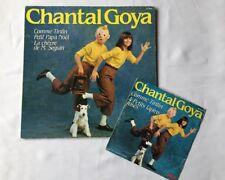 Tintin - Vinyle 45T + 33T Chantal Goya / Comme Tintin Pieds Nickelés / HERGE