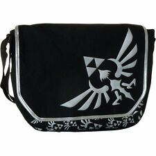 ZELDA Black and White Triforce Logo Messanger Bag
