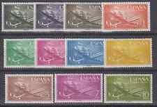 ESPAÑA (1955) MNH NUEVO SIN FIJASELLOS SPAIN - EDIFIL 1169/79 Sc# C147/57 AVION
