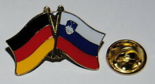 FREUNDSCHAFTSPIN 0127 PIN ANSTECKER DEUTSCHLAND / SLOWENIEN FAHNE METALL PINS