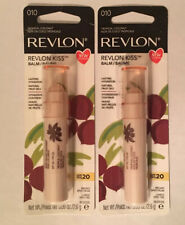 2x Revlon Kiss Lip Balm Tropical Cocount, #010 with SPF 20