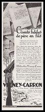 Publicité Verney -Carron Fusil de chasse Gun hunting vintage print ad 1925 - 2hb