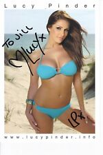 LUCY PINDER Autographed Signed BIKINI Photograph - To Jill