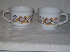 VINTAGE MID CENTURY MODERN ARCOPAL CUPS (2) CRAFTED IN FRANCE 50' 60'S