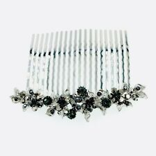 USA Hair Comb Hairpin use Swarovski Crystal Elegant Wedding Bridal Black C16