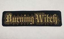 Burning Witch BACK Patch Embroidered Black Metal Sludge Doom