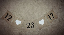 Save the Date~Burlap Wedding Banner/Bunting ~ Engagement Birth Photo Prop LG