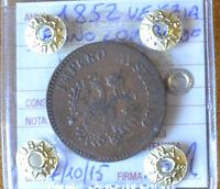 MONETA REGNO LOMBARDO VENETO 10 CENT 1852 VENEZIA BB+ NON COMUNE SUBALPINA