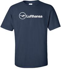 Lufthansa Vintage Logo German Airline Aviation T-Shirt S-5Xl