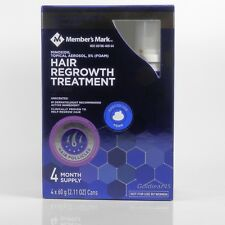 Minoxidil 5% Foam Hair Regrowth Men 4 months Members Mark