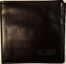 Authentic Big Skinny World Bifold Wallet with Zippered Pocket in Black Leather