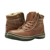 Pajar Mens Tavin Winter Waterproof Insulated Cognac Leather Boots Sz 44