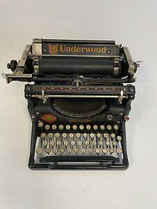 Underwood No 5 Typewriter Desktop Vintage Antique Made in U.S.A. Great Cond.