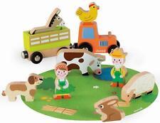 Janod Story Bauernhof Set Kinder Kleinkinder Rollenspiel Activity Spielzeug 2 J+