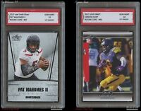 PAT MAHOMES II + KAREEM HUNT 2017 LEAF 1ST GRADED 10 ROOKIE CARD CHIEFS Patrick