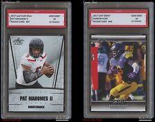 PAT MAHOMES II + KAREEM HUNT 2017 LEAF 1ST GRADED 10 ROOKIE CARD CHIEFS Patrick