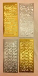 1 Sheet Of Peel Off  Thank You Stickers. Silver Or Gold. 2 Styles To Choose From
