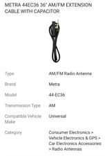 """Metra 44Ec36 36"""" Am/Fm Extension Cable With Capacitor"""