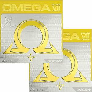 Xiom Omega VII China / DOPPELPACK / Tischtennisbelag / zum Sonderpreis