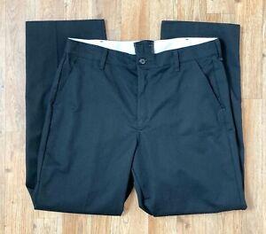 Red Kap Mens Black Work Pants 4 Pkt Back back Left w Button Logo Sz 36