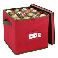 Christmas Ornament Storage Box Fits 64 Balls Xmas Decor Box Organizer Container