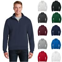 JERZEES NuBlend 1/4-Zip Cadet Collar Sweatshirt 50/50 Blend Pill Resist 995M