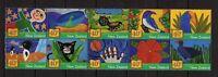11875) New Zealand 2002 Children's Book - Block Of 10 MNH