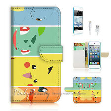 ( For iPod 5 / itouch 5 ) Flip Case Cover! Pokemon Pikachu P0022