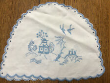 Vintage Embroidered Willow Pattern Teacosy