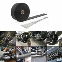 10M Auspuffband Fiberglas Hitzeschutzband Krümmerband mit 10 Kabelbinder