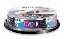 Philips DVD-R 120 Mins 4.7GB 16x Speed Recordable Blank Discs - 10 Pack Spindle