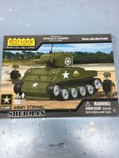 Best Lock Construction Toys Army Strong Sherman Tank 160 Piece 5 Or Older 2 Men