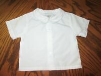Petit Ami White Shirt to Wear with Smocked Clothing 18 Months