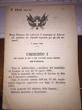 REGIO DECRETO AUT MUNICIPIO  LIVORNO ISTITUIRE DEPOSITO DOGANALE X OLII MINERALI