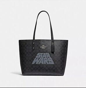 Women's Coach x Star Wars Tote Bag - Black Signature F88019