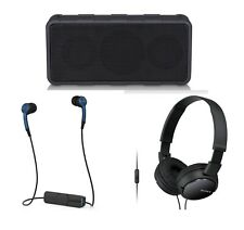 3-PACK Electronics Gift Portable Audio Bundle Speaker Bluetooth Sony Headphones
