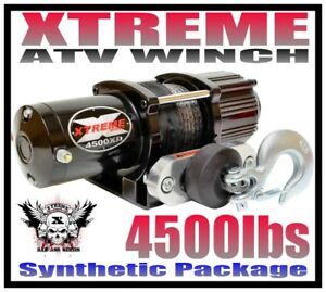 4500LB XTREME ATV WINCH 4500 LB WATERPROOF KIT FULL METAL HOUSING