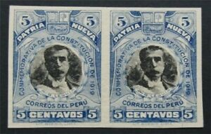 nystamps Peru Stamp Imperf Proof       S24x892