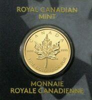 2020 Canada 1 Gram Gold Maple Leaf .9999 Fine 50c