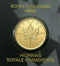 2020 Canada 1 Gram Gold Maple Leaf .9999 Fine 50c Rcm out of production