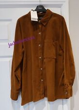 Zara Brown Premium Corduroy Shirt XS Extra Small 6 8 New