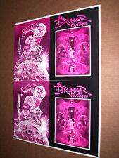 New listing Frank Brunner Production Art Color Separation Cover 'The Brunner Mystique' 17x23