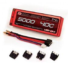 Venom 40C 5000mAh 7.4V 2 CELL LiPo Battery Universal Plug TRX  VNR15084 VEN15084