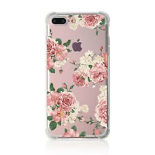 Shockproof Floral Thin Gel TPU Silicone Clear Case Case For Apple iPhone 8 Plus