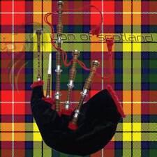 Scottish Bagpipe Rosewood Full Size Brown Silver Mounts Natural Finish/Dudelsack
