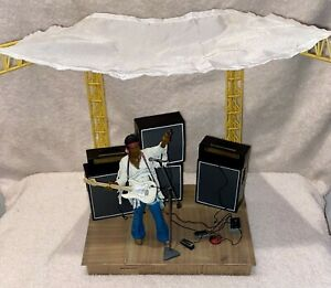 McFarlane Jimi Hendrix Figure With Deluxe Woodstock Stage
