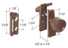Chocolate Brown Screen and Storm Door Tulip Knob Latch with 1-3/4""