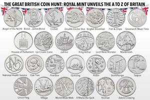 Full Set 2018 Early Strike Uncirculated A-Z 10p Coins Great British Coin Hunt