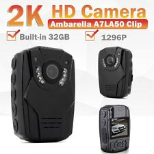 32GB HD Police Force Tactical Body Worn Camera IR Night DVR 6 hours 150° Degree